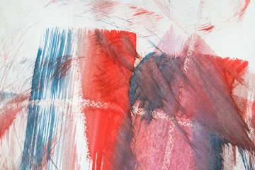 """Abstract watercolor drawing on a paper """"Sunrise in the mountain"""""""