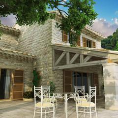Luxury villa deck