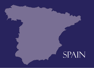 Spain map with flag inside, Spain map, Spain flag