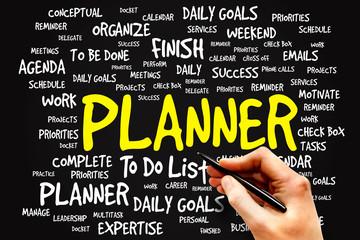 PLANNER word cloud, business concept
