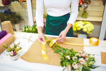 Wrapping flowers