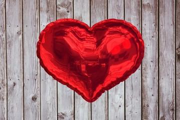 Wall Mural - Big red heart shaped balloon