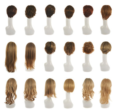 Hair wig over the mannequin head set