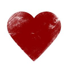 Valentine Heart - Grunge Vector Illustration Background