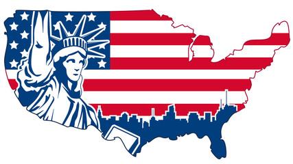 USA abstract map