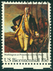""" Washington at Princeton, 1777"" painting by Peale"