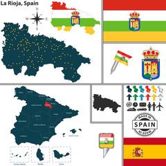 Map of La Rioja, Spain
