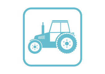 Tractor vector icon on white background