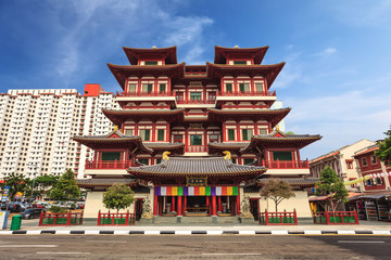 Foto op Canvas Singapore Buddha Tooth Relic Temple, Chinatown, Singapore
