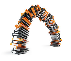office folders lined arch