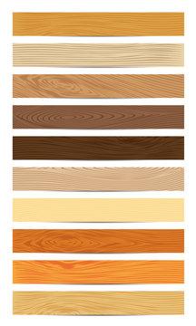 Set of Wood Textures Vector