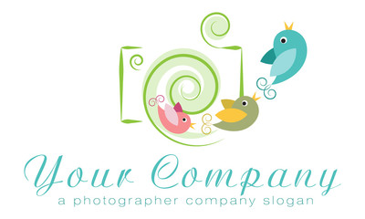 Vector logo template, photo agency logo family photographer logo