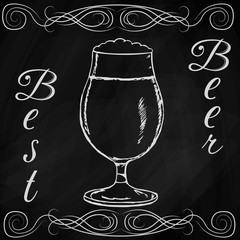 hand drawn sketch of beer