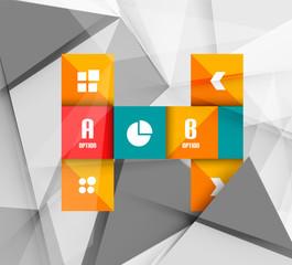 Business geometric option steps infographics