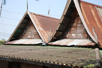 roof design of Thai house