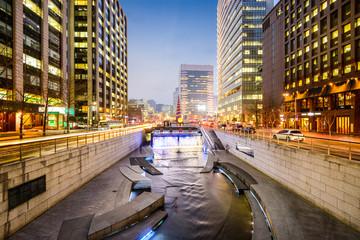 Aluminium Prints Seoul Seoul, South Korea Stream Cityscape