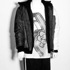 mannequin dressed in male clothes