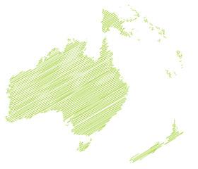 Landkarte *** scribbled Australien