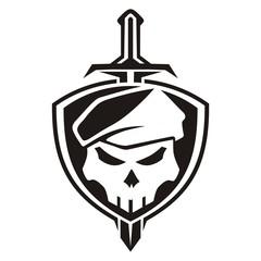 army skull shield