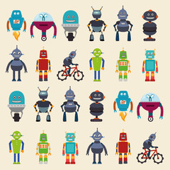 robot design, vector illustration