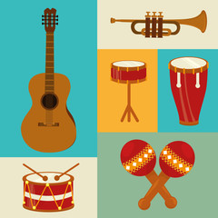 Music design over colorful background vector illustration