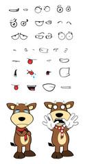 bull funny cartoon expression set4