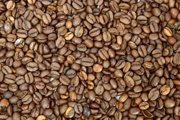 The coffee beans background