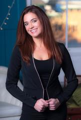 Intellectual Business Woman Office Workplace Portrait