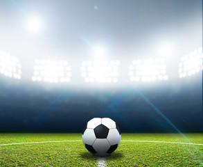 Stadium And Soccer Ball