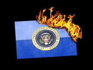 Flag burning - Presidential seal