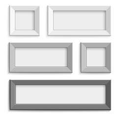 picture frame design vector for image or text. Gray and black.