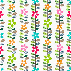 Beautiful floral pattern with leaves.