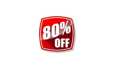 Discount Label Vector 80%