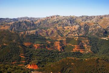 hilly landscape, Crete, Greece
