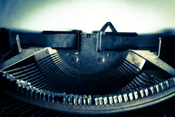 Vintage filtered image of typewriter