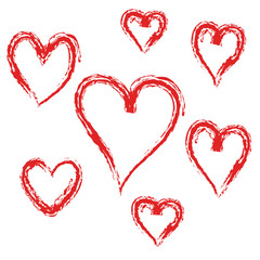 set of red heart  vector