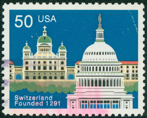 Federal Palace, Bern and Capitol, Washington