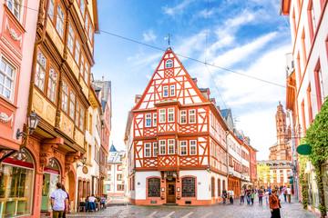 Historisches Mainz Blick auf den Dom