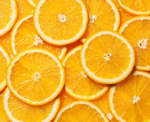 Colorful orange fruit slices