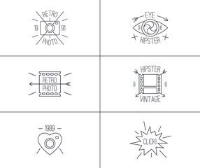 Set of hipster badges