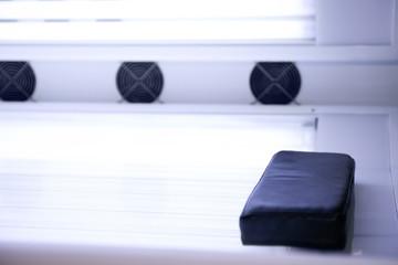 Empty tanning bed solarium