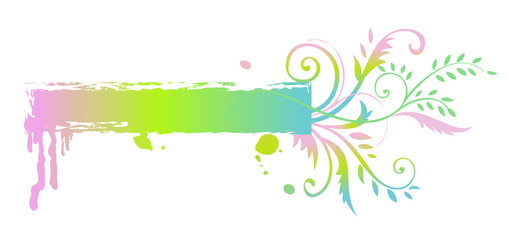 Floral rainbow banner