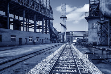 Iron and steel industry landscape, Shanghai, China.