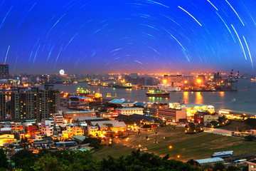 Taiwan's second largest city - Kaohsiung,the star orbital