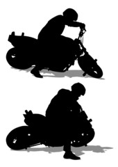 Wall Mural - Moto sport people