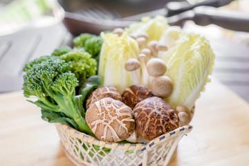 vegetable in the basket