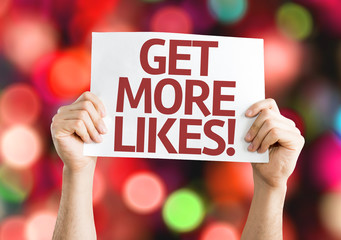 Get More Likes card with colorful background