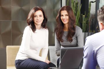 Business women at meeting