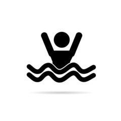man in the sea icon vector
