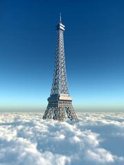Eiffelturm über den Wolken